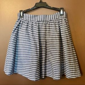 Alex + Alex Striped Cotton Skirt